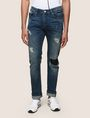 ARMANI EXCHANGE SLIM-FIT DESTROYED AND PATCHED JEANS Slim fit JEANS Man f