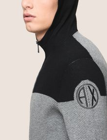 ARMANI EXCHANGE COLORBLOCK LOGO HOODIE SWEATER Layering Man b