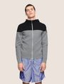 ARMANI EXCHANGE COLORBLOCK LOGO HOODIE SWEATER Layering Man f