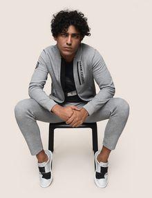 ARMANI EXCHANGE ジップアップ スウェットブルゾン フリースジャケット メンズ a