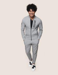 ARMANI EXCHANGE VERTICAL LOGO ZIP-UP JACKET Fleece Jacket Man d