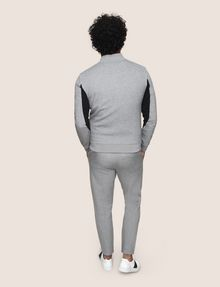ARMANI EXCHANGE VERTICAL LOGO ZIP-UP JACKET Fleece Jacket Man e