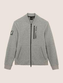 ARMANI EXCHANGE VERTICAL LOGO ZIP-UP JACKET Fleece Jacket Man r