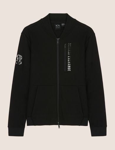 VERTICAL LOGO ZIP-UP JACKET