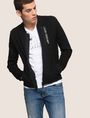 ARMANI EXCHANGE VERTICAL LOGO ZIP-UP JACKET Fleece Jacket Man a