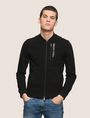 ARMANI EXCHANGE VERTICAL LOGO ZIP-UP JACKET Fleece Jacket Man f