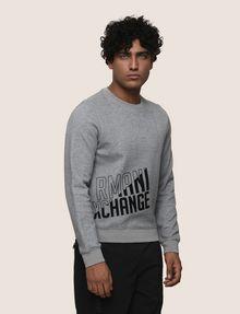 ARMANI EXCHANGE SLASH LOGO SWEATSHIRT TOP Fleece Top Man f
