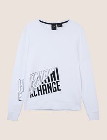 ARMANI EXCHANGE SLASH LOGO SWEATSHIRT TOP Fleece Top Man r