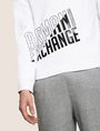 ARMANI EXCHANGE SLASH LOGO SWEATSHIRT TOP Fleece Top Man b