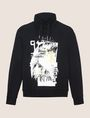 ARMANI EXCHANGE FOIL OVERLAY EAGLE HOODIE Fleece Top Man r