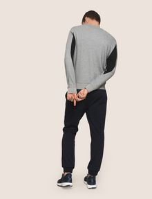 ARMANI EXCHANGE COLORBLOCK-SWEATSHIRT MIT PRINT Fleece-Top Herren e