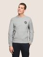 ARMANI EXCHANGE COLORBLOCK-SWEATSHIRT MIT PRINT Fleece-Top Herren f