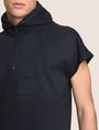 ARMANI EXCHANGE ZIPPERED HOOD SHORT-SLEEVE SWEATSHIRT Fleece Top Man b