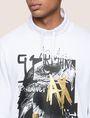 ARMANI EXCHANGE FOIL OVERLAY EAGLE HOODIE Fleece Top Man b