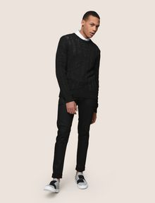 ARMANI EXCHANGE OPEN-KNIT STRIPE SWEATER Pullover Man d