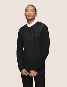 ARMANI EXCHANGE OPEN-KNIT STRIPE SWEATER Pullover Man f