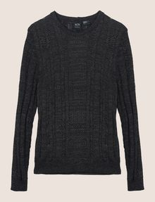 ARMANI EXCHANGE OPEN-KNIT STRIPE SWEATER Pullover Man r