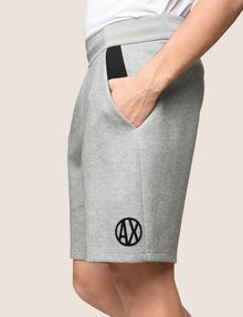 ARMANI EXCHANGE COLORBLOCK-SWEATSHORTS MIT RUNDEM LOGO Fleece-Shorts [*** pickupInStoreShippingNotGuaranteed_info ***] b