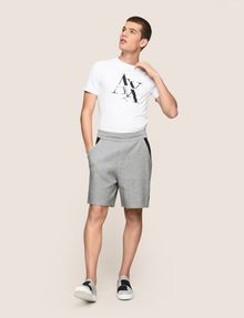 ARMANI EXCHANGE COLORBLOCK-SWEATSHORTS MIT RUNDEM LOGO Fleece-Shorts [*** pickupInStoreShippingNotGuaranteed_info ***] d