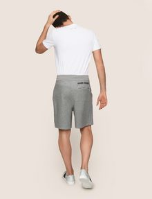 ARMANI EXCHANGE COLORBLOCK-SWEATSHORTS MIT RUNDEM LOGO Fleece-Shorts [*** pickupInStoreShippingNotGuaranteed_info ***] e