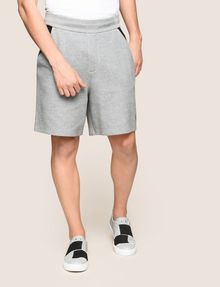 ARMANI EXCHANGE COLORBLOCK-SWEATSHORTS MIT RUNDEM LOGO Fleece-Shorts [*** pickupInStoreShippingNotGuaranteed_info ***] f