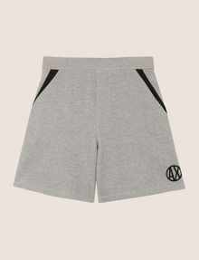 ARMANI EXCHANGE COLORBLOCK-SWEATSHORTS MIT RUNDEM LOGO Fleece-Shorts [*** pickupInStoreShippingNotGuaranteed_info ***] r