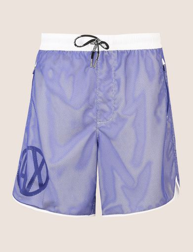 CIRCLE LOGO MESH SWIM TRUNK