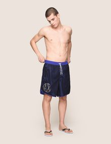 ARMANI EXCHANGE CIRCLE LOGO MESH SWIM TRUNK Swim Man d