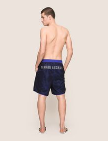 ARMANI EXCHANGE CIRCLE LOGO MESH SWIM TRUNK Swim Man e