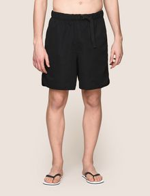 ARMANI EXCHANGE BELTED WAIST LOGO SWIM SHORTS Swim Man f