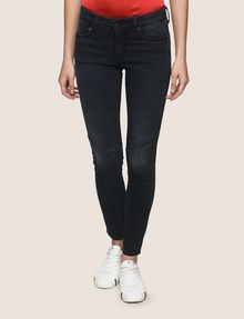 ARMANI EXCHANGE MOTO DETAIL SUPER-SKINNY JEANS Skinny jeans Woman f