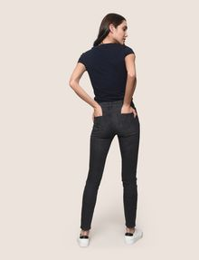ARMANI EXCHANGE SUPER-SKINNY DISTRESSED WASHED GREY JEAN Skinny jeans Woman e