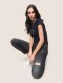 ARMANI EXCHANGE SUPER-SKINNY DISTRESSED WASHED GREY JEAN Skinny jeans Woman a