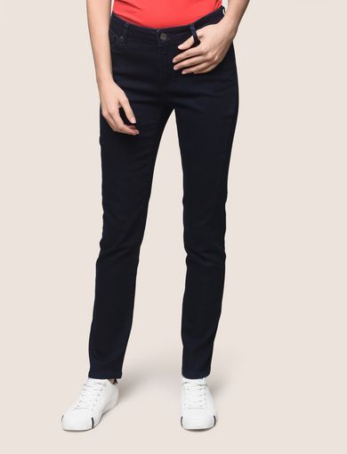 BLACKENED INDIGO STRETCH SLIM CIGARETTE JEANS