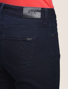 ARMANI EXCHANGE BLACKENED INDIGO STRETCH SLIM CIGARETTE JEANS Slim fit JEANS Woman b