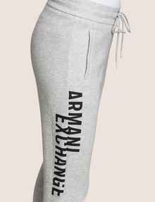 ARMANI EXCHANGE SPLIT LOGO JOGGER Fleece Pant Woman b