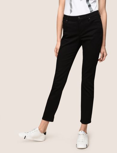 BLACK STRETCH SLIM CIGARETTE JEANS