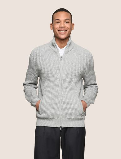 TEXTURED STITCH SWEATER JACKET