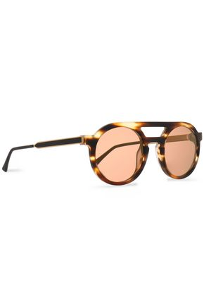 THIERRY LASRY Aviator-style tortoiseshell acetate and gold-tone sunglasses
