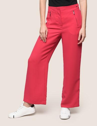 ZIP DETAIL WIDE-LEG TROUSER