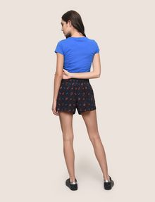 ARMANI EXCHANGE PRINTED CURVED-HEM SHORTS Shorts Woman e