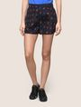 ARMANI EXCHANGE PRINTED CURVED-HEM SHORTS Shorts Woman f