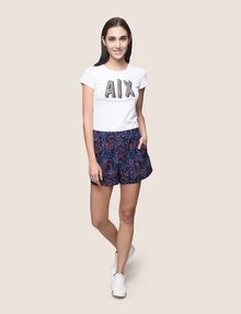 ARMANI EXCHANGE PRINTED CURVED-HEM SHORTS Short Woman d