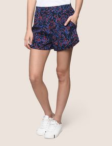 ARMANI EXCHANGE PRINTED CURVED-HEM SHORTS Short Woman f