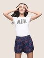 ARMANI EXCHANGE PRINTED CURVED-HEM SHORTS Short Woman a