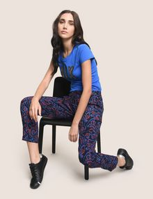 ARMANI EXCHANGE PRINTED TIE-WAIST JOGGER Jogger Woman a