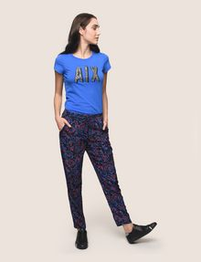 ARMANI EXCHANGE PRINTED TIE-WAIST JOGGER Jogger Woman d