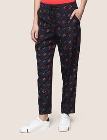 ARMANI EXCHANGE PRINTED TIE-WAIST JOGGER Jogger Woman f