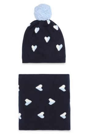 CHINTI AND PARKER Intarsia merino wool and cashmere-blend scarf and beanie set