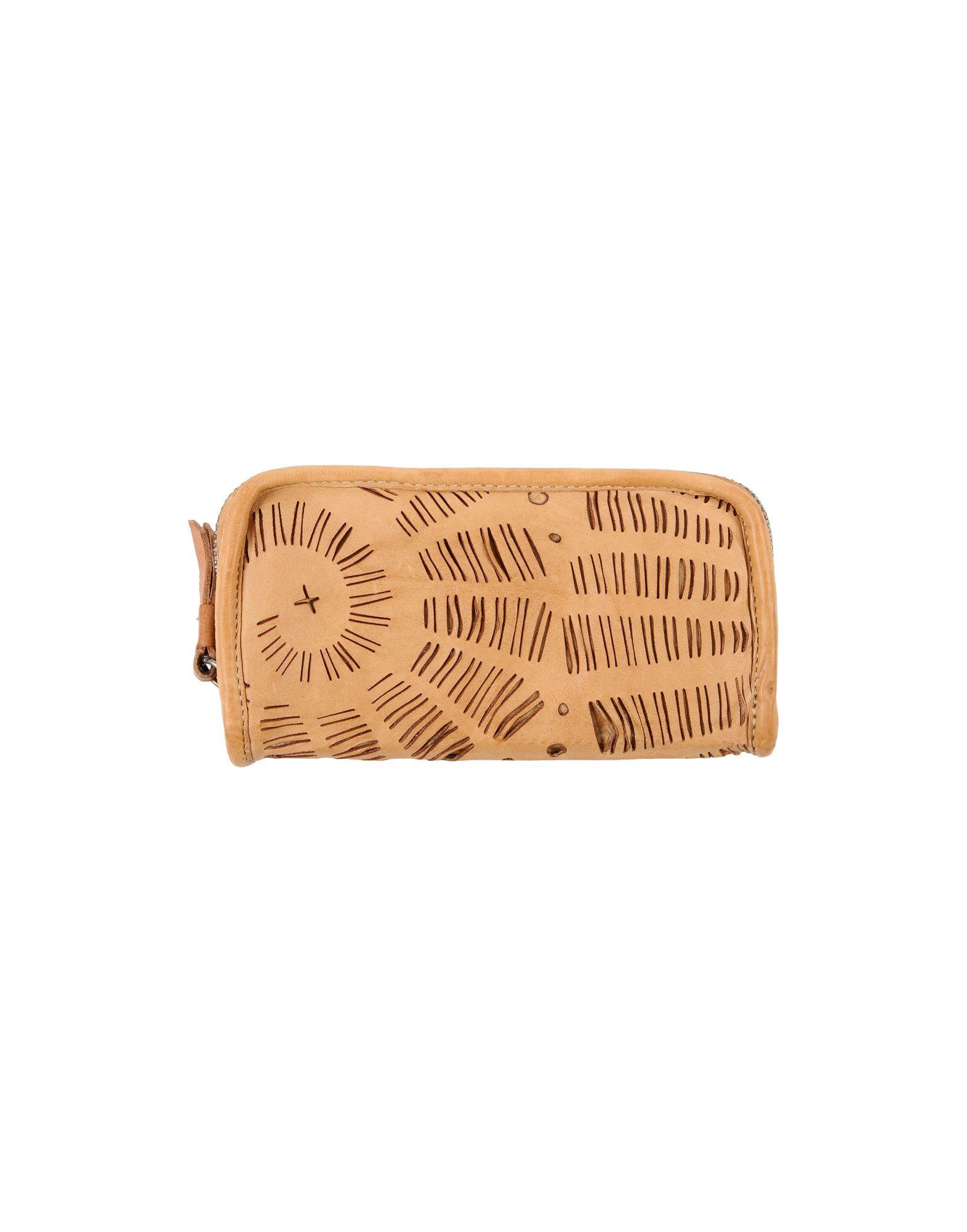 《送料無料》CATERINA LUCCHI レディース 財布 キャメル 羊革(ラムスキン)